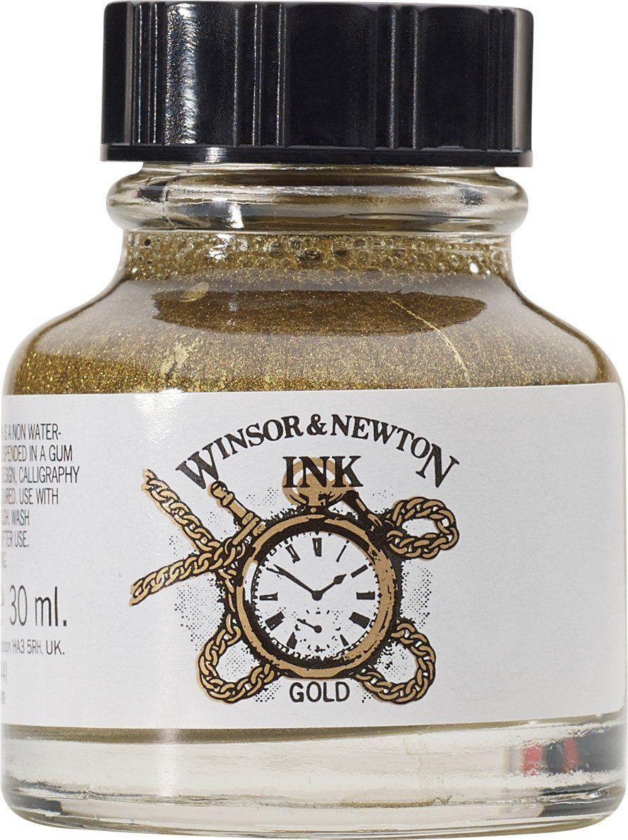 Amazon.com: Winsor & Newton Drawing Ink Bottle, 14ml, Gold
