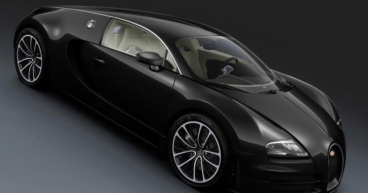 Bugatti Veyron Black Sport Car HD Wallpaper