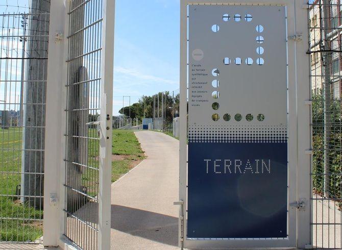 Pole Sportif Toulon Ateliers59 Wayfinding Signage Signage Design Environmental Design