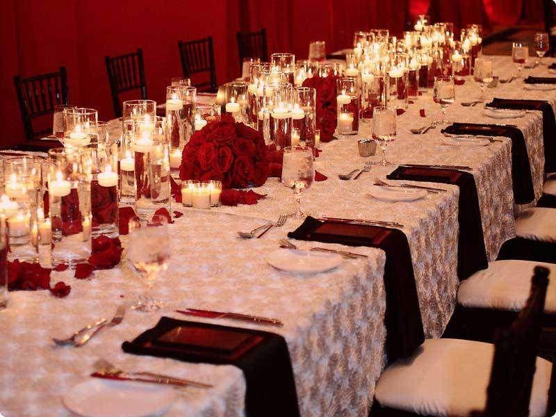 102 best red vow renewalwedding images on pinterest red wedding 10 white satin ribbon rosette rose table runners 12x108 wedding decorations junglespirit Choice Image