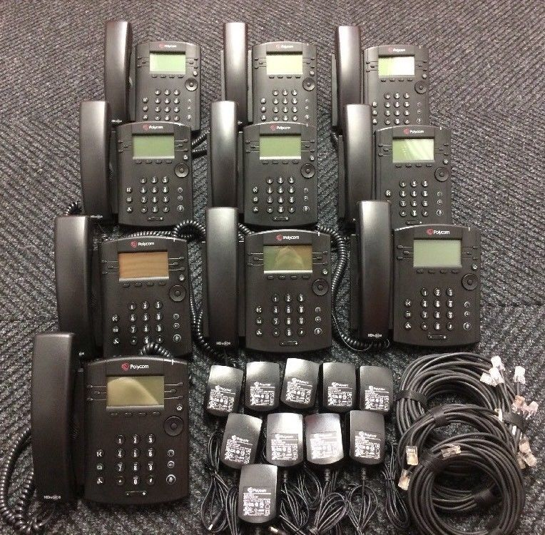 10 Polycom VVX300 Business Media Telephone VOIP Phones 2001