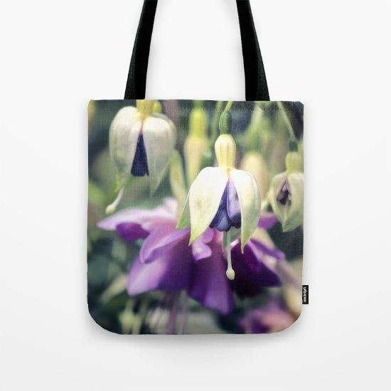 Purple Fuchsia Flowers Tote Bag