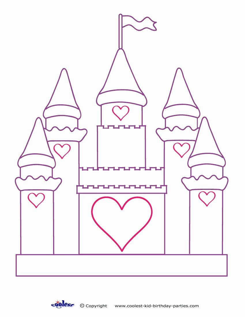 Princess In A Castle Coloring Pages Design