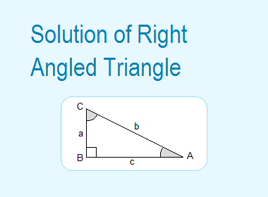 Solution Of Right Angled Triangle Triangle Abc Solutions Angles