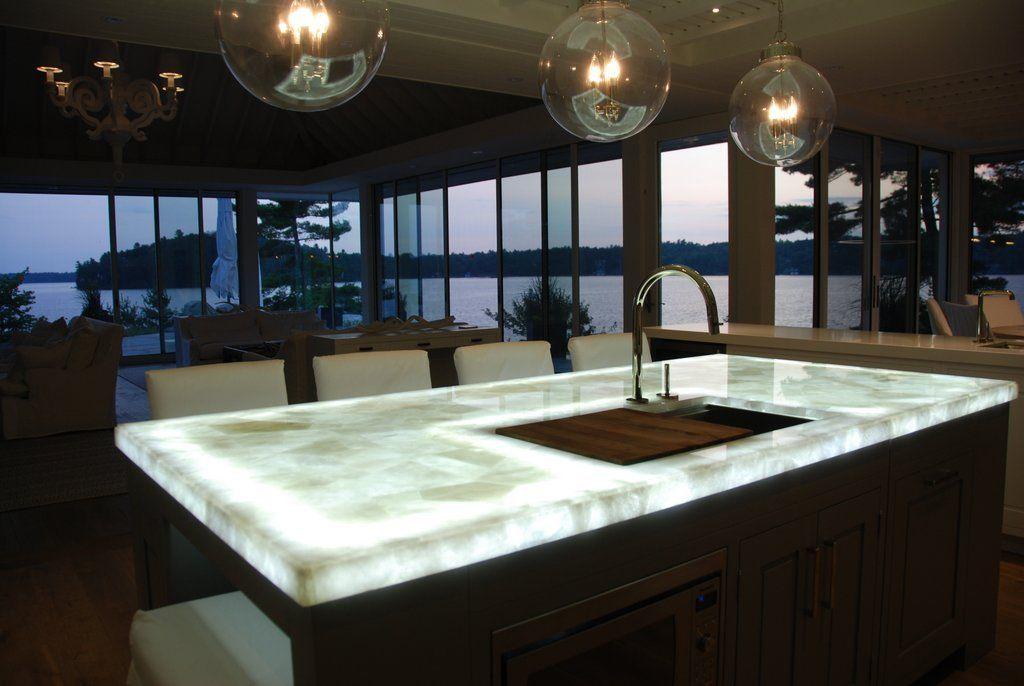 Backlit Quartz Kitchen Counters Kitchen Remodel