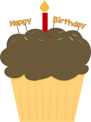 Free Downloadable Cupcakes Links To More Cupcake Clip Art Happy Birthday Clip Happy Birthday Cupcakes Birthday Cupcake Images
