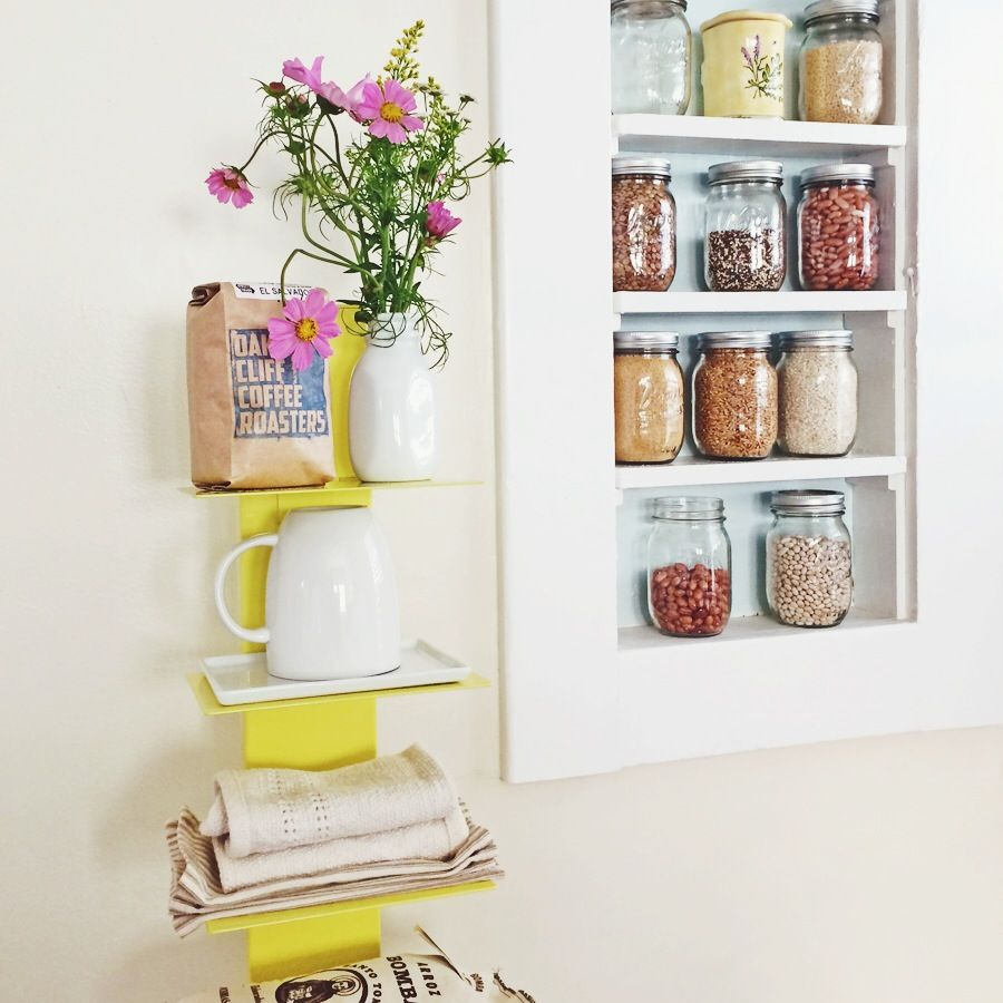 Small kitchen? Use the 10 levels of the Array Bookcase to store and ...