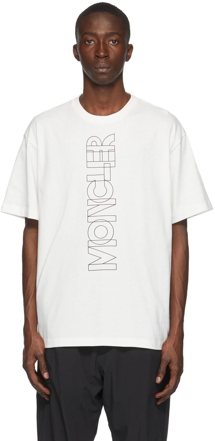 Moncler Grenoble Off White Logo T Shirt Tshirt Logo Shirts Moncler [ 1412 x 690 Pixel ]
