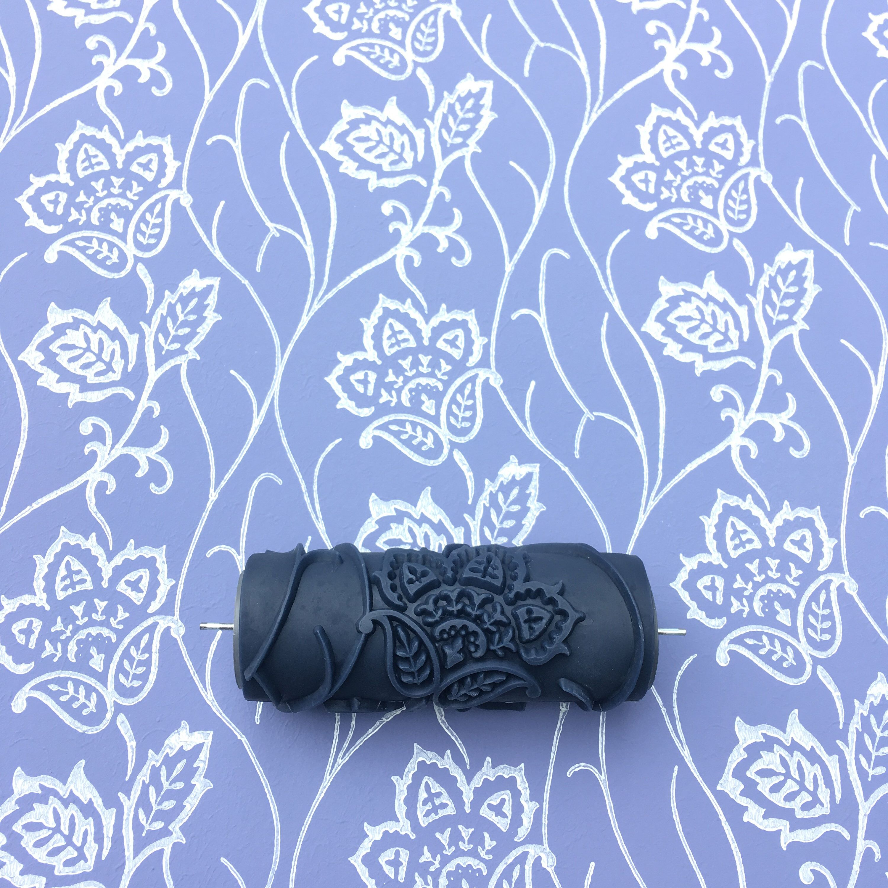 Pattern Paint Roller Wall Roller Rubber Roller 15cm Red Rose