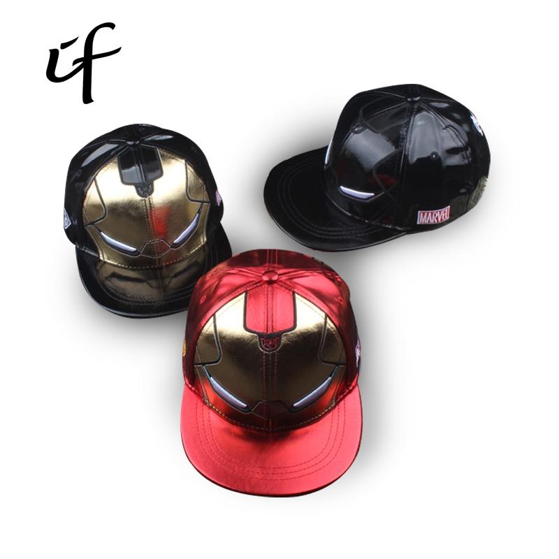 f23859a5fbbd9 5.99  Buy here - illfly Kids   Adults Size Ironman Avengers Baseball Caps  Iron Man