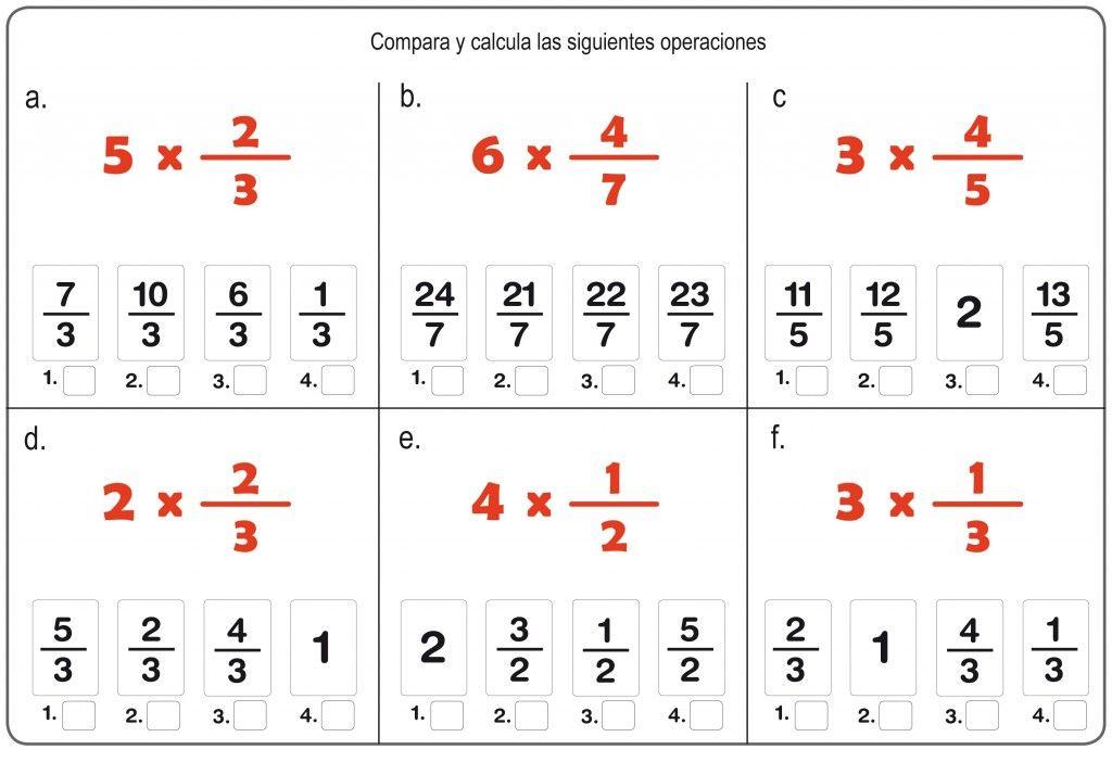 Cómo Calcular La Fracción De Un Número Fracciones Multiplicación De Fracciones Operaciones Con Fracciones