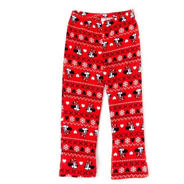 Minnie Mouse Red Minnie Mouse Fair Isle Pajama Pants ($23 ...