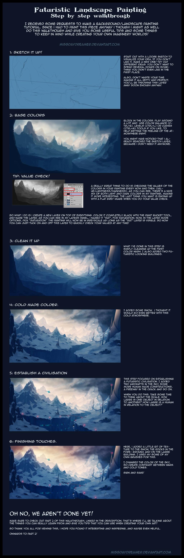 Futuristic landscape painting step by step part1 by zanariya futuristic landscape painting step by step part1 by zanariya baditri Images