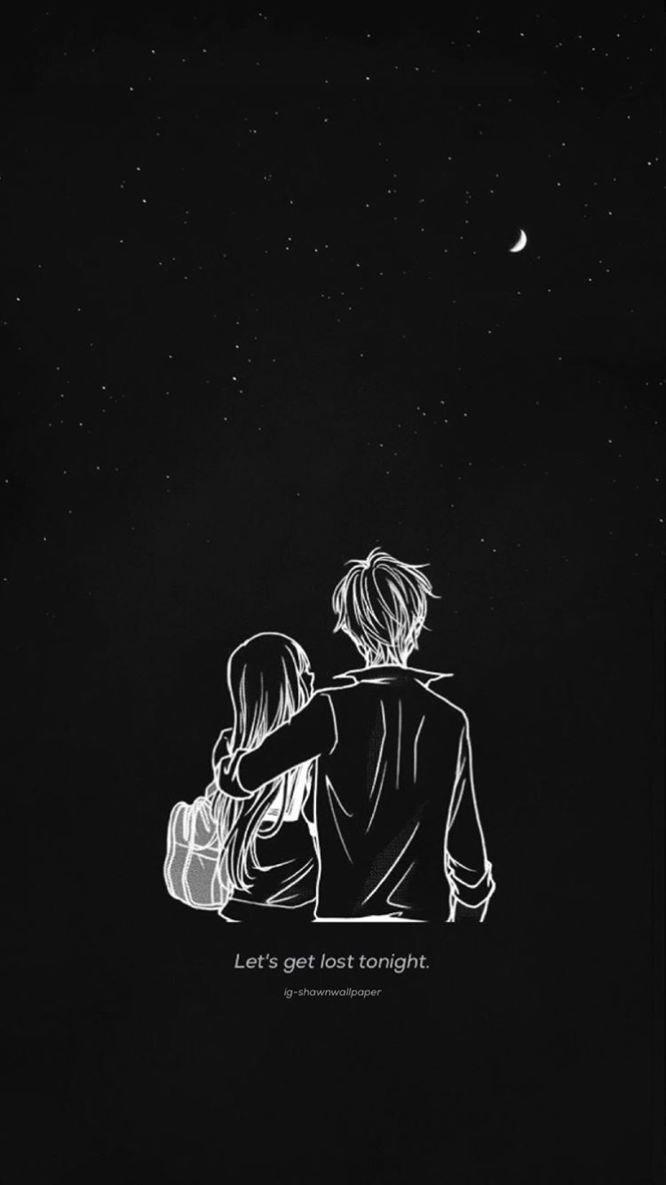 Cute Couple Galaxy Wallpaper