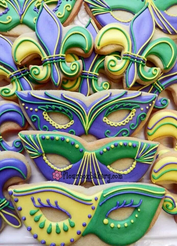 Plain Mardi Gras Masks To Decorate Simple Cookies Mardi Gras  Bakery  Pinterest  Mardi Gras Sugar Decorating Inspiration