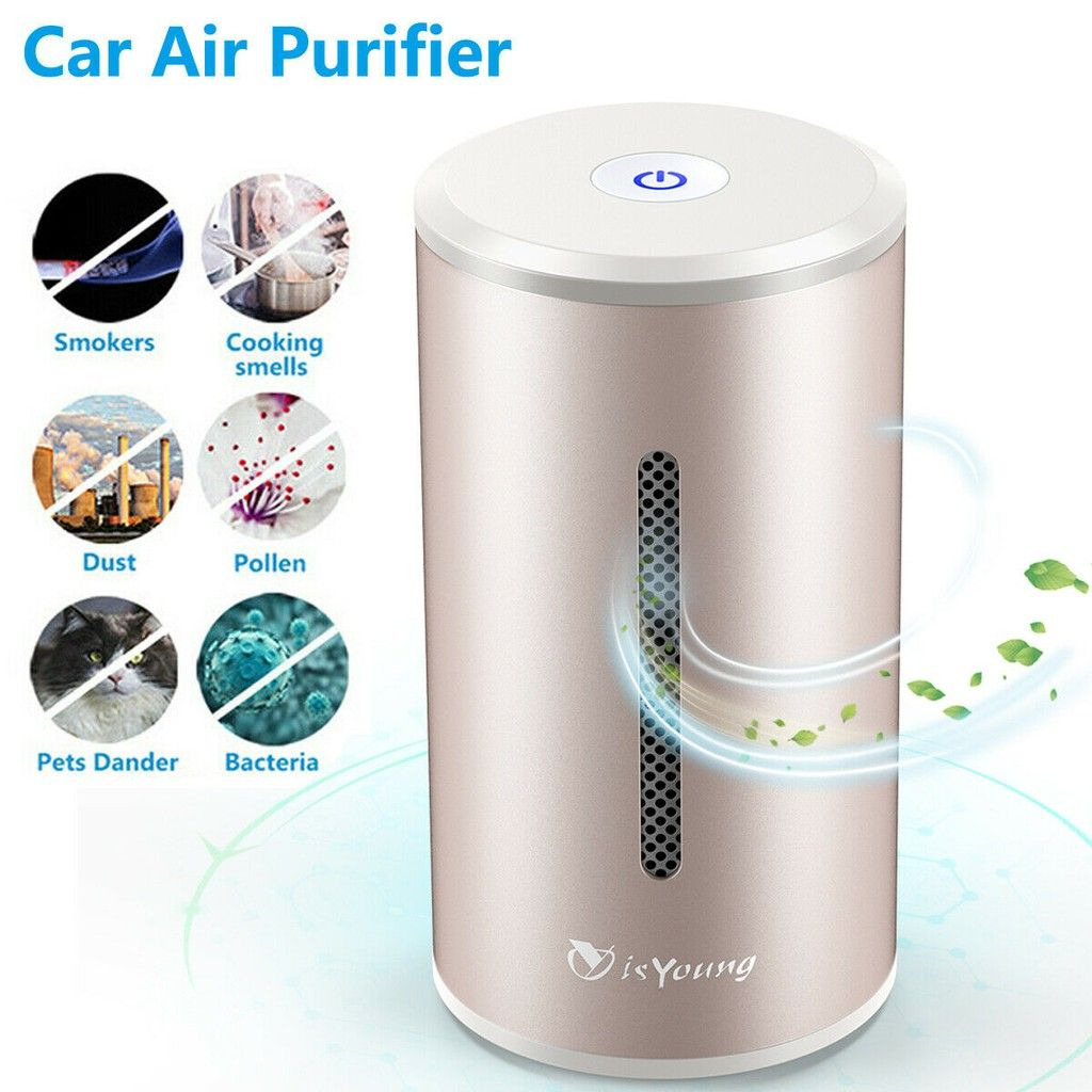 Home Car Air Purifier Hepa Filter, Odor Eliminator