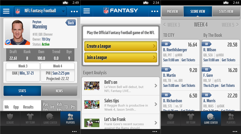 NOKIANEWS NFL Fantasy Football application is now