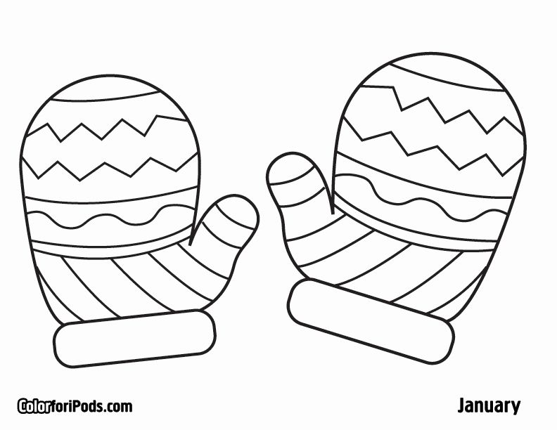 Free Coloring Pages Winter Hats Pictures