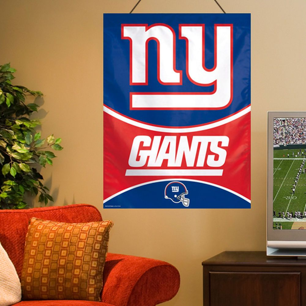 207e8215 New York Giants WinCraft 27'' x 37'' Primary Vertical Banner Flag ...