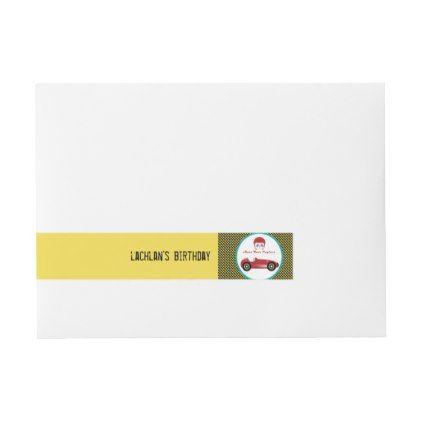 Car Racing Speedway Party Envelope Label Envelope Labels