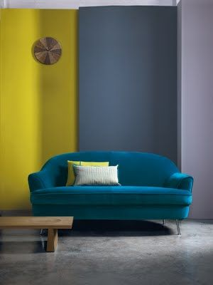 Amazing Teal Velvet Sofa And That Chartreuse...oh My