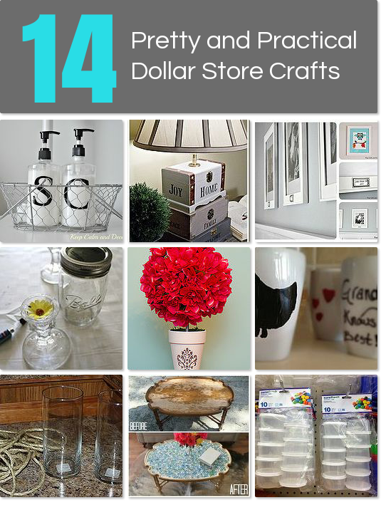 14 Pretty And Practical Dollar Store Crafts Idea Box By Whitney