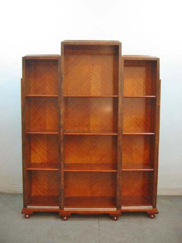 art deco bookshelf 3 section art deco art deco furniture and deco