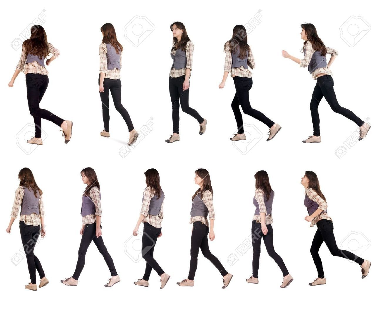Pin By Ys Uhh On The Body In Motion Walking Poses Running Women Pose Reference