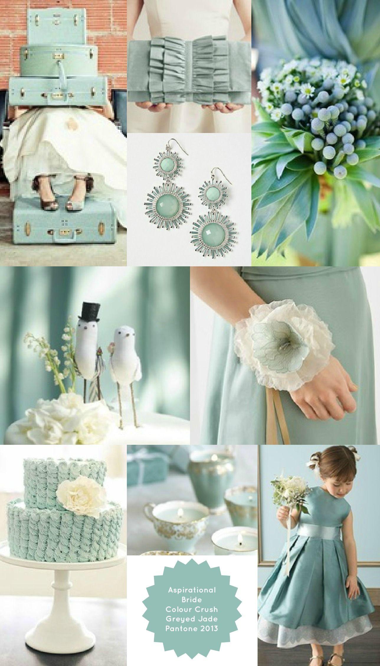 Pantone greyed jade wedding theme beautiful for vintage wedding pantone greyed jade wedding theme beautiful for vintage wedding love the color junglespirit Image collections