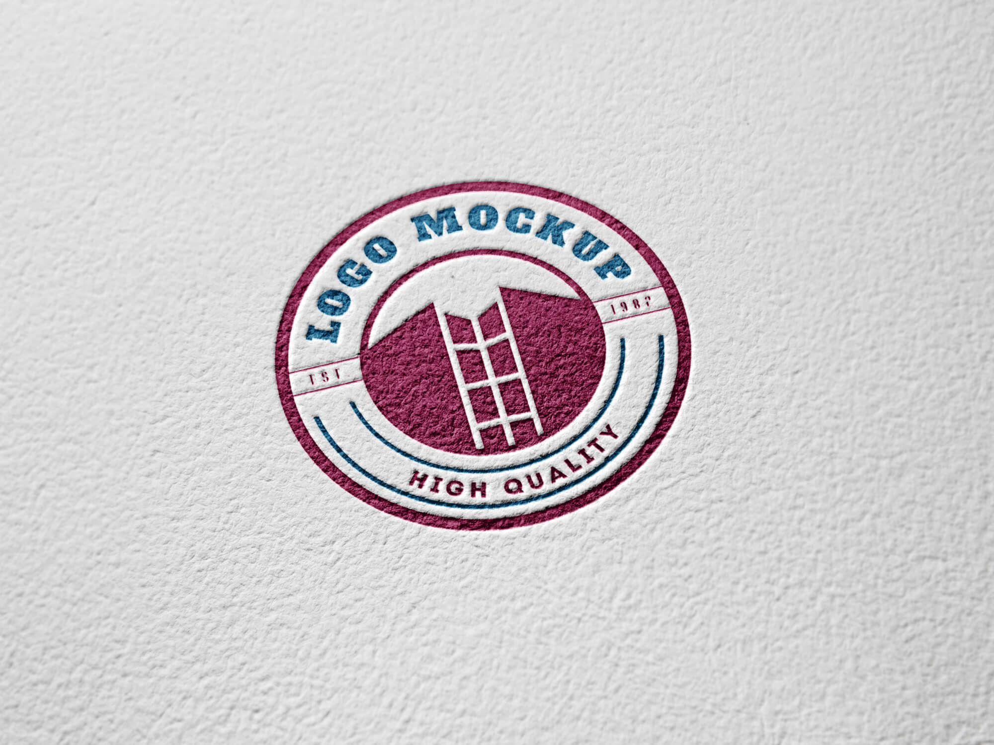 Paper Engraved Logo MockUp 명함 디자인, 명함