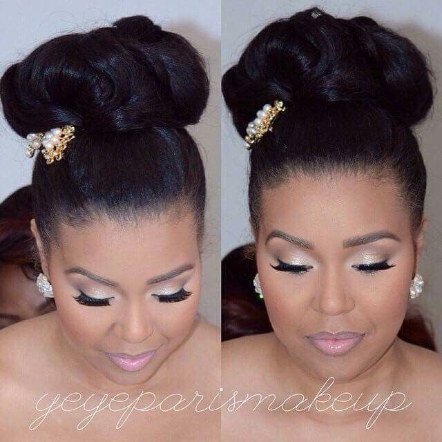 High Bun Black Wedding Hairstyles Black Bridesmaids Hairstyles Ball Hairstyles