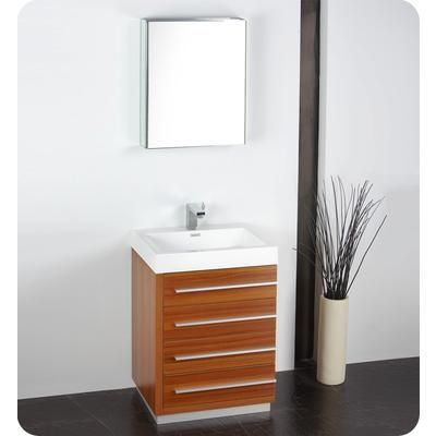 Fresca Livello 24 Inch Teak Modern, Home Depot Canada Bathroom Mirror Cabinet