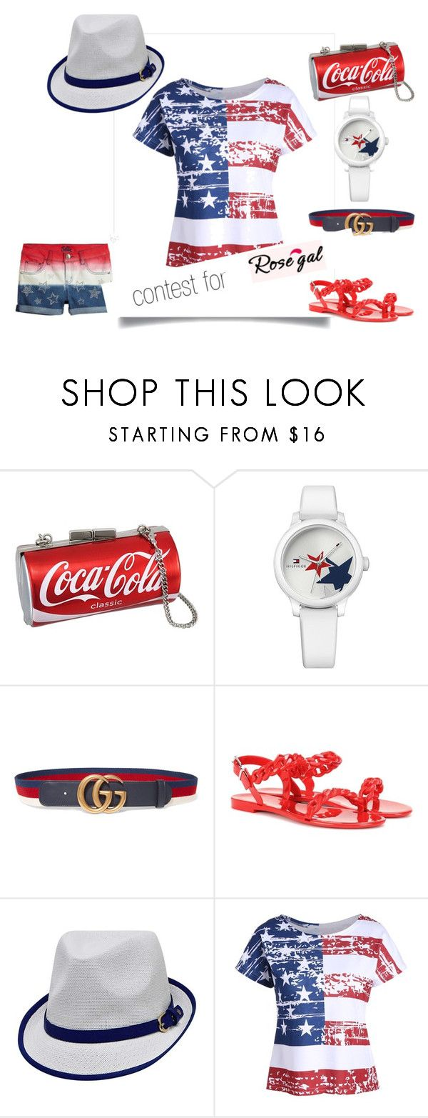 """""""THE HAVE A COKE AND SMILE CHIC{K} #USA #PERIOD #WEareAMERICA #PROUD"""" by g-vah-styles ❤ liked on Polyvore featuring Tommy Hilfiger, Gucci and Givenchy"""