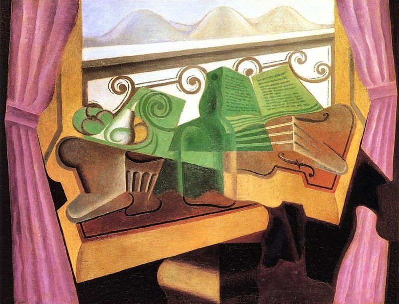 Open Window with Hills Canvas art prints, Cubism, Open
