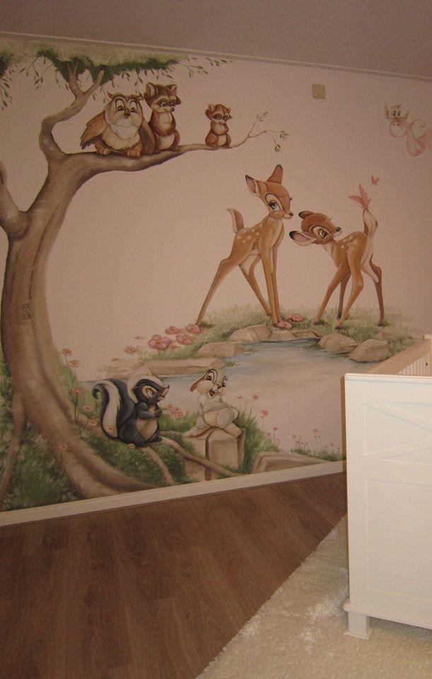 Awesome Bambi aan het water WandmalereienKinderzimmerWandbilder HausbauKaufenIdeenM dchenschulenKinderzimmerBambi Tattoo