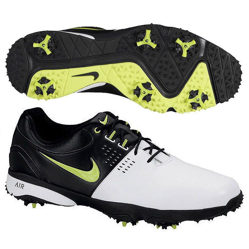Nike Men\u0027s Air Rival III Golf Shoes 628533 100 White/Green/Black #Nike