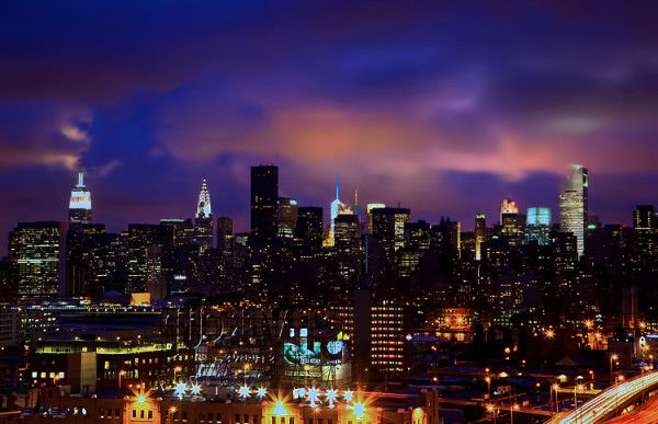 Low-slung clouds draped over #NYC tonight.