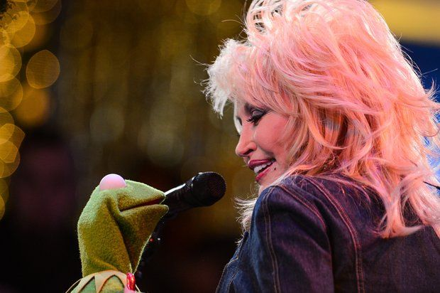 Dolly and Kermit