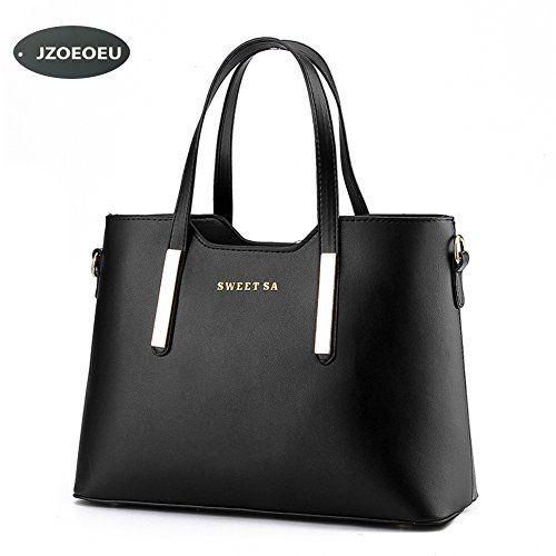 Women's PU Leather Shoulder Bags Top-Handle Handbag Tote Bag Simple Purse Fashion Cross Body Bag,Black SILI - http://handbags.kindle-free-books.com/womens-pu-leather-shoulder-bags-top-handle-handbag-tote-bag-simple-purse-fashion-cross-body-bagblack-sili/