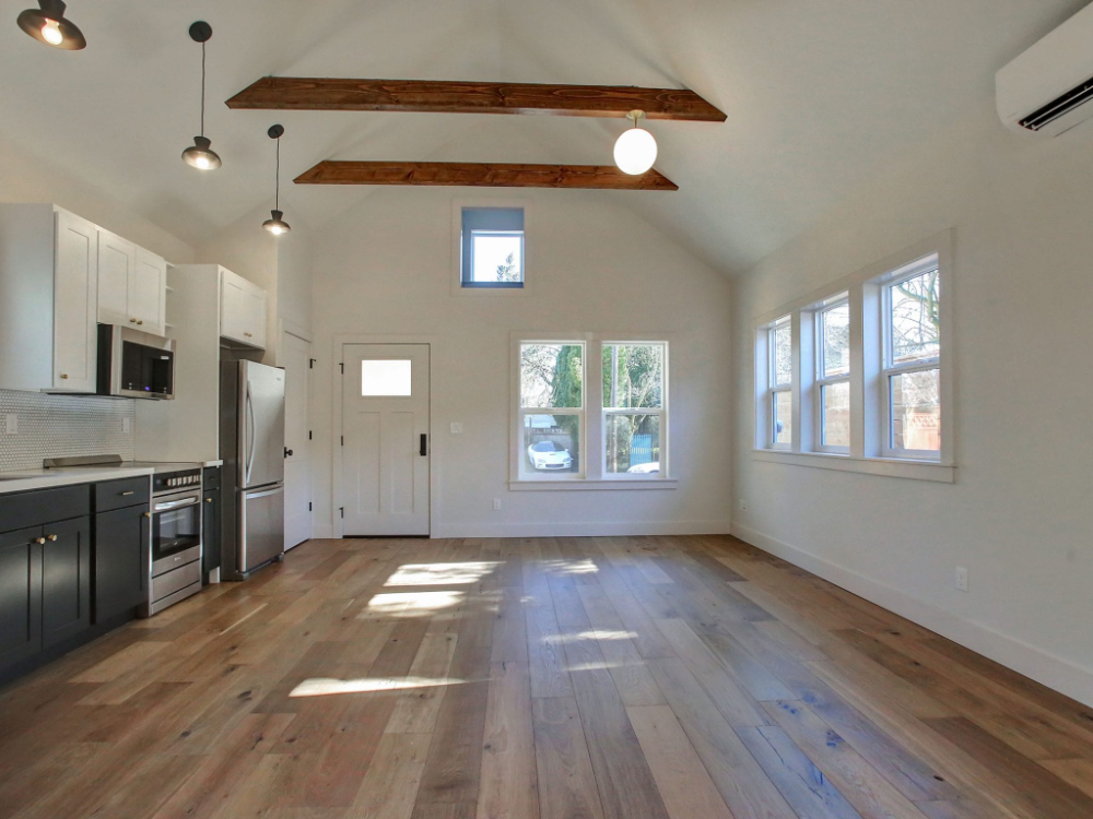 Bengtson Adu Copeland Co Interiors Garage Guest House Garage To Living Space Garage Studio Apartment