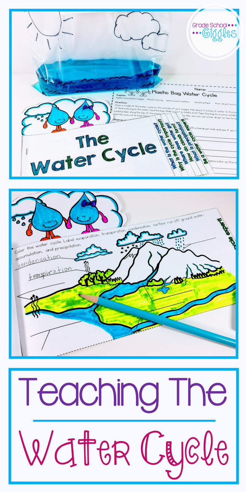 planning the lesson and prepping activities can take up a lot of time if you want some awesome printables for teaching kids about the water cycle  [ 800 x 1600 Pixel ]