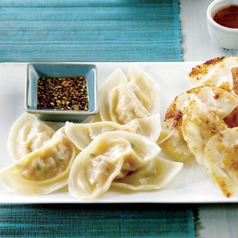 Dumplings au boeuf et à l'aneth