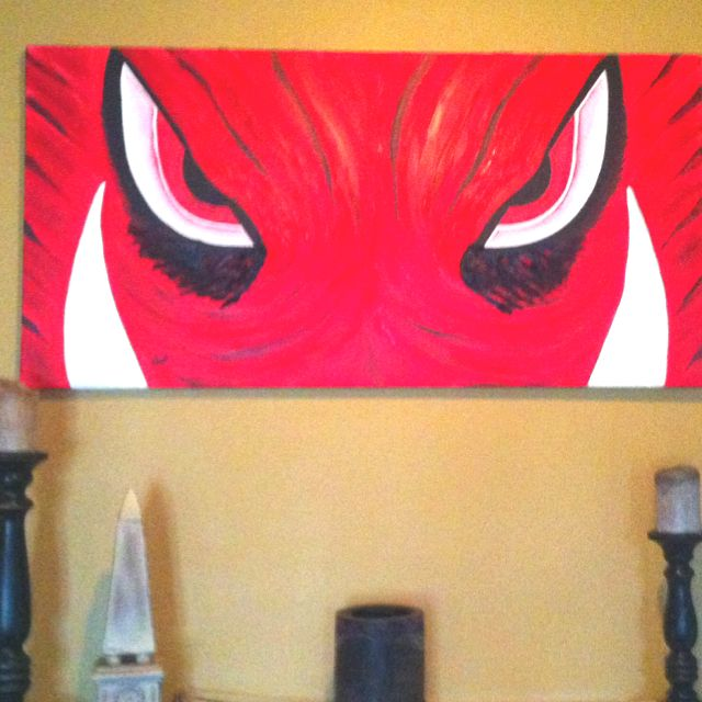 Razorback painting! Awesome 3D tusks! | Excellent Idea. | Pinterest ...