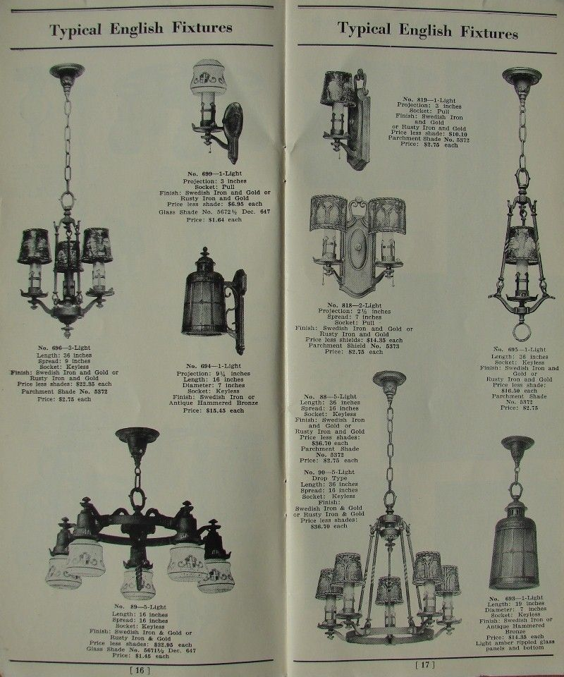1920 S General Electric Antique Lighting Catalog Page 16 1920s Light Fixtures Vintage Light Fixtures Antique Lighting