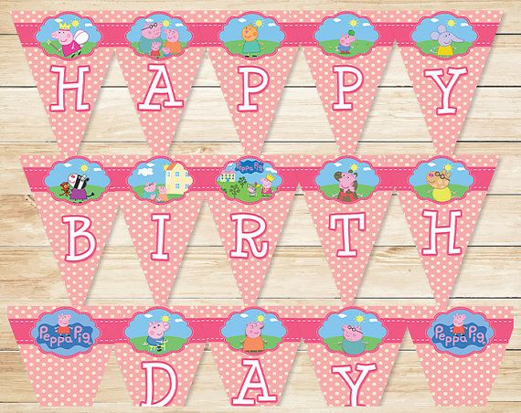 Do you have a big Peppa Pig fan at home thats just craving a Peppa Pig birthday party? Then look no further than this fantastic Peppa Pig Banner to help make their dreams come true!    Please note that this is a Printable/Digital Product. No physical item with be shipped to you. Youll receive the files as soon as you purchase. They will be sent to your Etsy email address so be sure you know what that is!    The file youll receive is a High Resolution PDF, 8.5 x 11. There are 5 Pages to the…