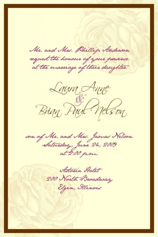 Wedding Invitations In Spanish Templates