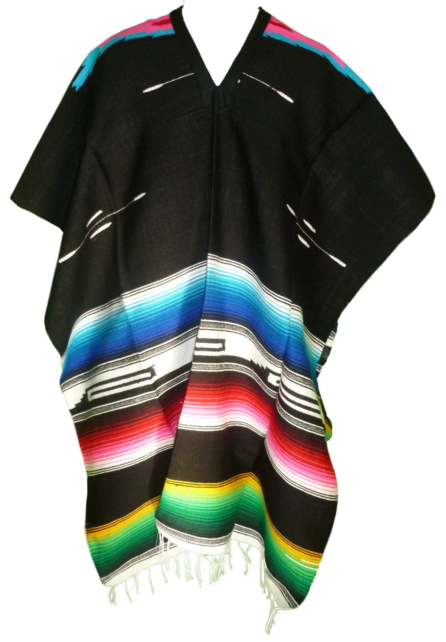 This is a Serape Mexican Poncho. This poncho is made from very soft and  high quality blanket material. The design of the poncho makes it warm and  ... aa13684821