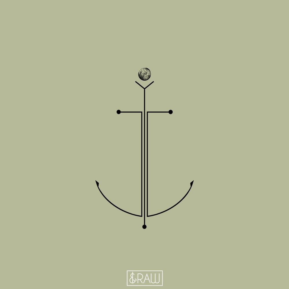 minimalist anchor with deep meaning design for matthias