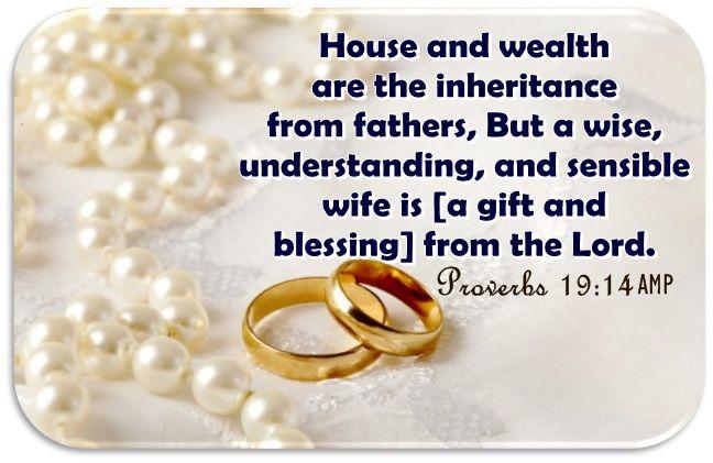 Pin On Marriage Bible Verses Paraphrase Prov 19 14