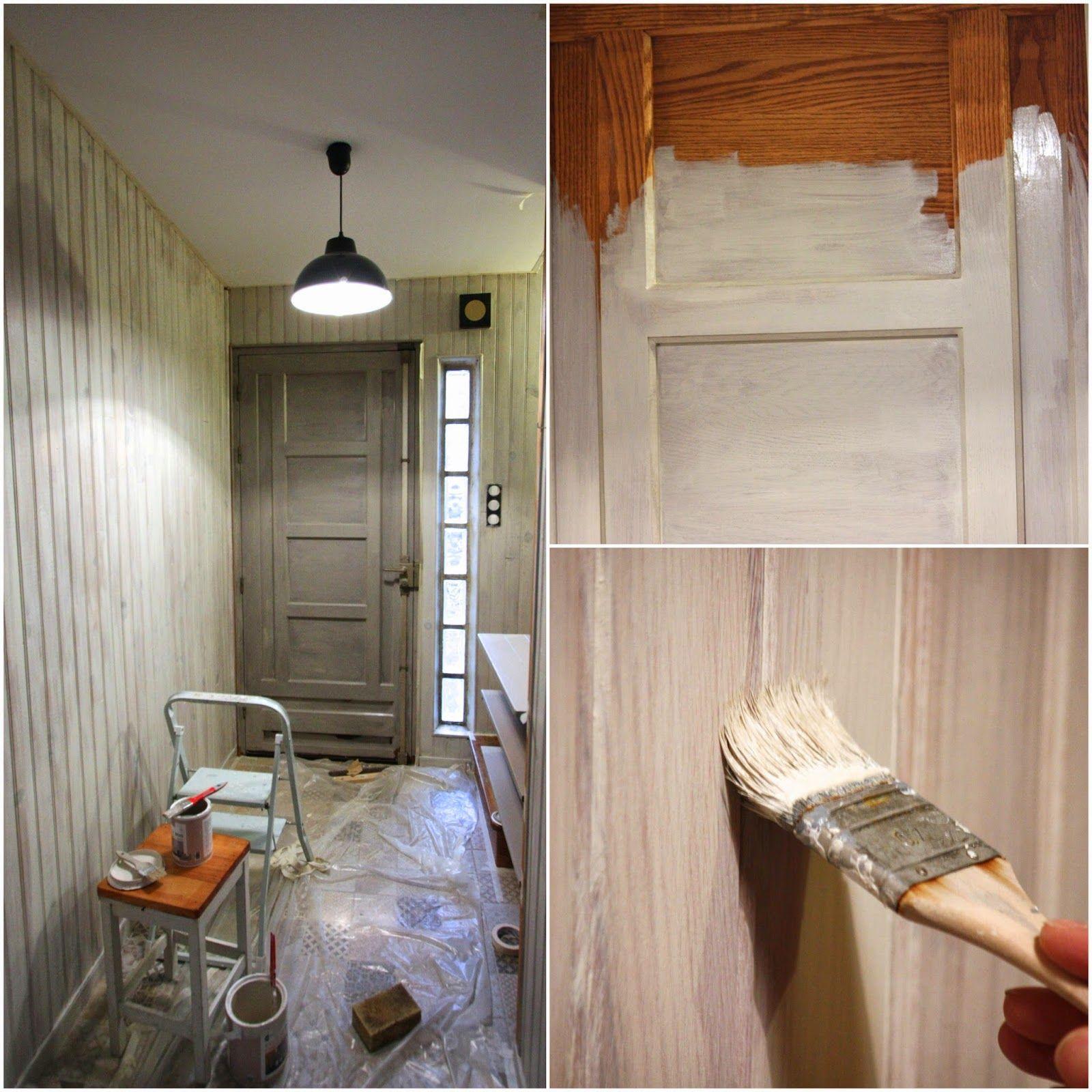 un nouveau regard avant apr s d 39 une entr e en lambris avec les peintures maison d co house. Black Bedroom Furniture Sets. Home Design Ideas